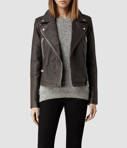 Bleeker Leather Biker Jacket by All Saints in If I Stay