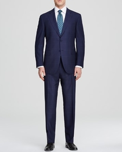 Windowpane Travel Suit by Canali in Suits