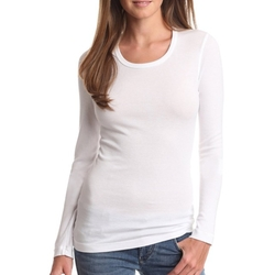Long Sleeve Scoop Neck T-Shirt by Splendid in Keeping Up With The Kardashians