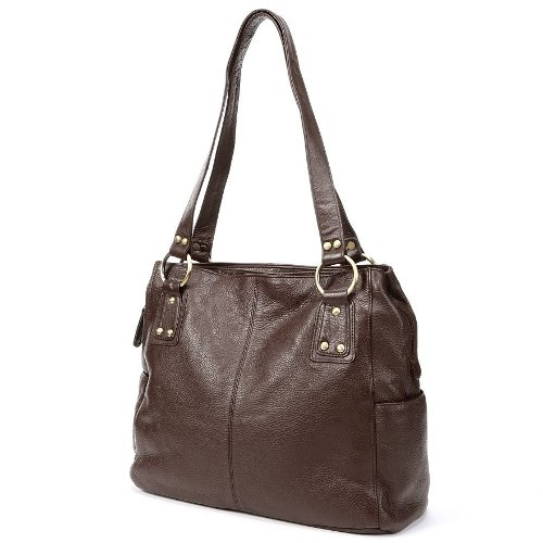 Leather Pocket Leather Tote Bag by R&R in The Best of Me