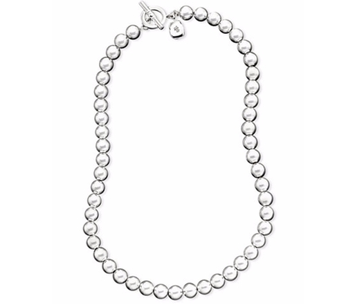 Silver-Tone Metal Bead Necklace by Lauren Ralph Lauren in The Boss