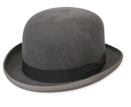 Bowler Derby Dress Hat by Contempo Suits in Top Five