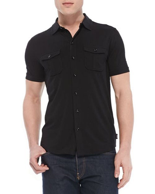 Military Button-Down Shirt by Armani Collezioni	 in Need for Speed