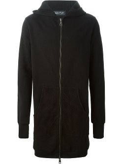 Long Mesh Pocket Hoodie Jacket by Andrea Ya'aqov in The Town