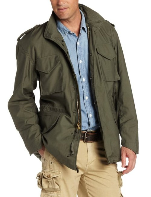 Men's M-65 Field Coat by Alpha Industries in The Great Gatsby