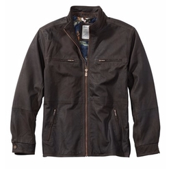 'Sunrise Rider' Island Modern Fit Leather Jacket by Tommy Bahama in Supernatural