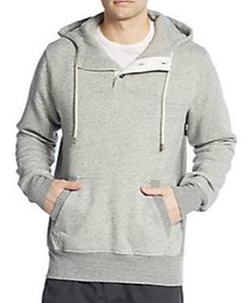 Henley Hoodie by Splendid Mills in Silicon Valley