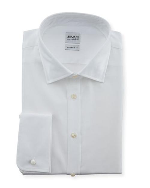 Modern Fit Poplin Dress Shirt by Armani Collezioni in Suits - Season 5 Episode 1