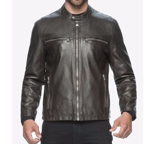 Moto-Style Faux-Leather Jacket by Marc New York in Jack Reacher