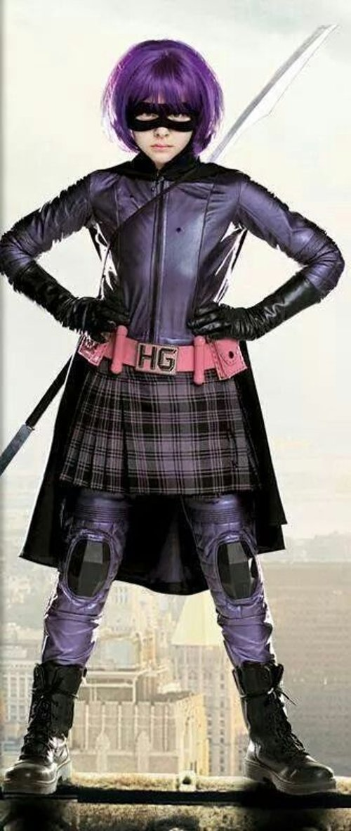 Custom Made Hit Girl Suit by Sammy Sheldon (Costume Designer) in Kick-Ass