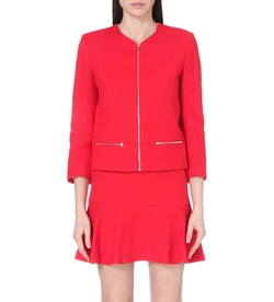 Valeria Stretch-Cotton Jacket by Sandro in Scandal