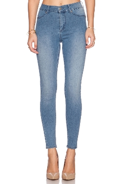 Spray On High Rise Skinny Jeans by Cheap Monday in The Visit