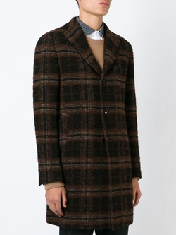 Checked Overcoat by Tagliatore in On Her Majesty's Secret Service