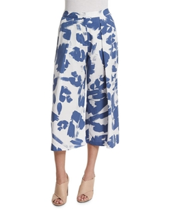 Pleated-Front Printed Culottes by Kendall + Kylie in Keeping Up With The Kardashians