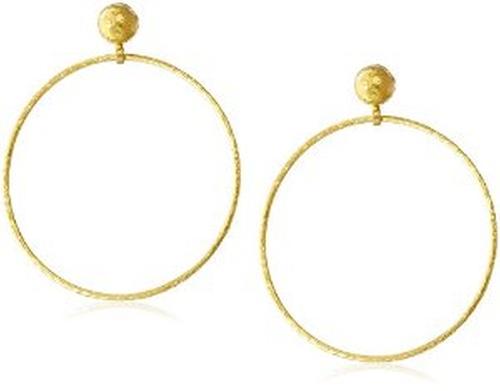 Geo Gold Hoop Post Earrings by Gurhan in Empire - Season 2 Episode 13