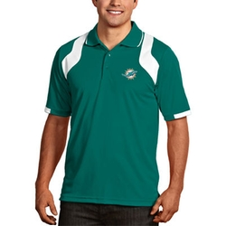 Mens Miami Dolphins Aqua/White Fusion Polo Shirt by Antigua in Ballers