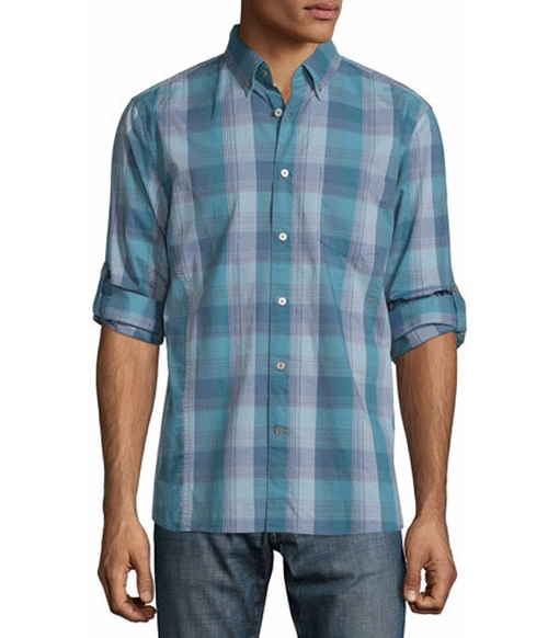 Check Roll-Tab Sport Shirt by John Varvatos Star USA in The Bachelorette - Season 12 Episode 7