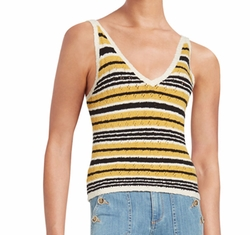 Striped Tie-Back Tank Top by Free People in Love
