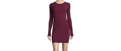 Penny Long-Sleeve Ribbed Bodycon Dress by Elizabeth and James in Miss Sloane