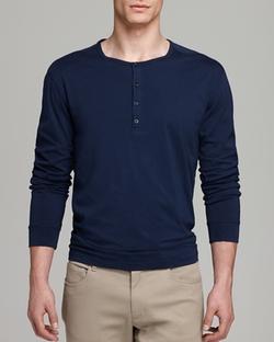 Favorite Jersey Long Sleeve Henley Shirt by Vince in Arrow