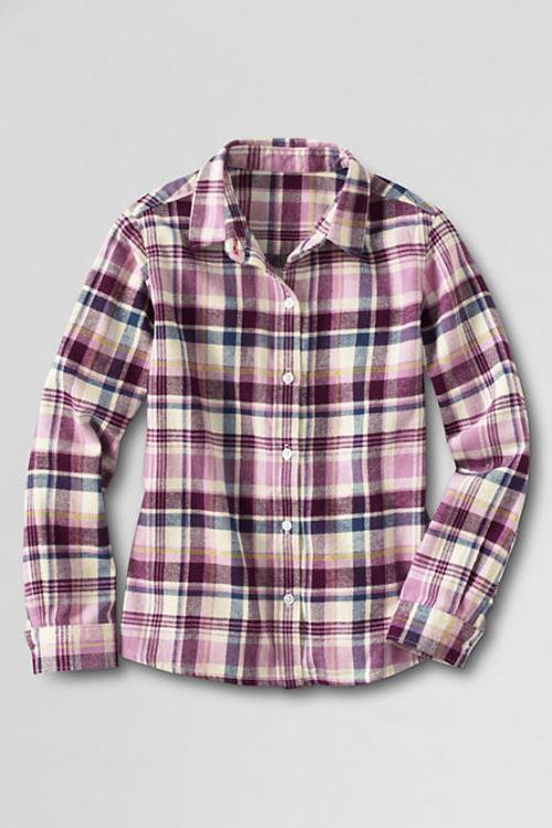 Little Girls' Long Sleeve Flannel Shirt by Lands' End in Little Fockers