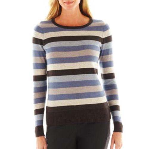 Long-Sleeve Striped Sweatereater by Liz Claiborne in Ride Along