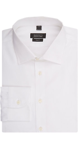 Solid Dress Shirt by Barneys New York in Spy