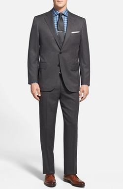 Trim Fit Wool Suit by Corneliani in Sex and the City