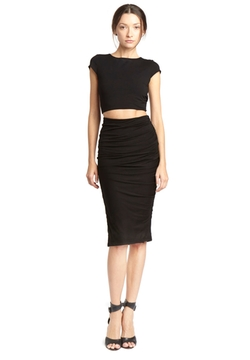 Twist Back Crop Top by Alice And Olivia in Rosewood
