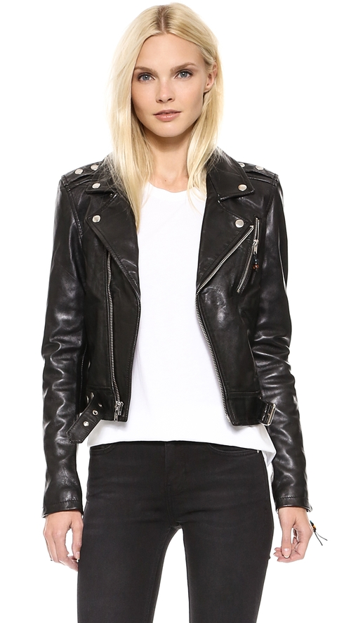 Leather Jacket 1 by BLK DNM in Keeping Up With The Kardashians - Season 11 Episode 2