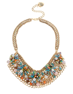 Bead And Flower Mesh Bib Necklace by Betsey Johnson in Scream Queens