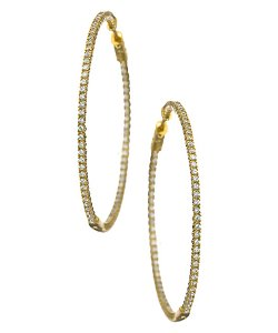 Large Hoop Earrings by Max & Chloe in Drive