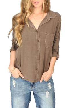 Elisa Rolled-Sleeve Blouse by Velvet Heart in Modern Family