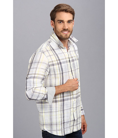 Island Modern Fit Plaid Shirt by Tommy Bahama in Trainwreck