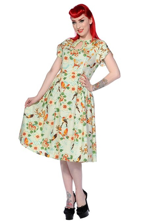 Retro Floral Dress by Banned in The Longest Ride