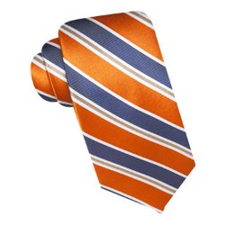 Doyle Striped Silk Tie by Stafford in Get Hard