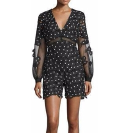 Daisy Dot Floral-Lace Romper by Self-Portrait in Keeping Up With The Kardashians