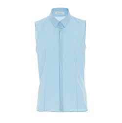 Sleeveless Collared Shirt by Delpozo in American Made