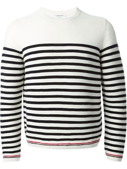Striped Crew Neck Sweater by Thom Browne in Empire