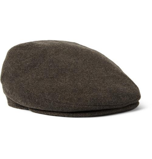 Oslo Wool And Cashmere-Blend Flat Cap by Lock & Co Hatters in Unbroken
