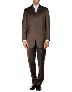 Stripe Suit by Pal Zileri Cerimonia in Rosewood