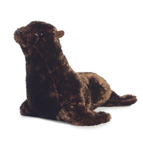 Brown Seal Flopsie Stuff Toy by Aurora in No Escape