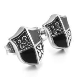 Stainless Steel Enamel Stud Earrings by JBlue Jewelry in Ride Along