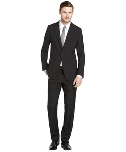 Black Wool Two-Button Suit by Prada in Quantico