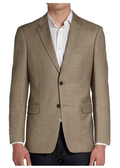 Two-Button Sharkskin Wool Sportcoat/Trim-Fit by Tommy Hilfiger in Anchorman 2: The Legend Continues