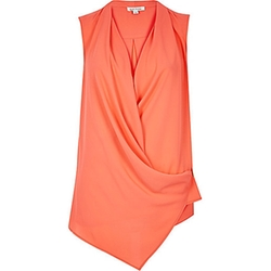Wrap Front Sleeveless Blouse by River Island in Mistresses