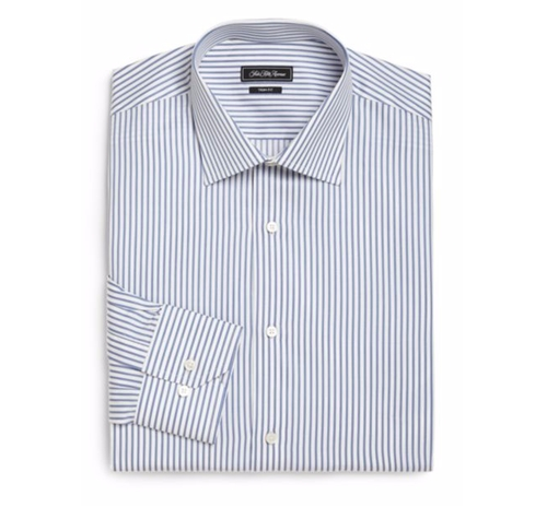 Trim-Fit Striped Dress Shirt by Saks Fifth Avenue Collection in The Infiltrator