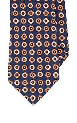 Medallion-Pattern Necktie by Kiton in Rosewood