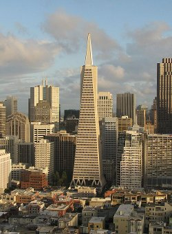 San Francisco, California by Transamerica Pyramid in San Andreas