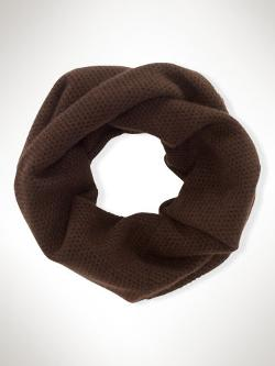 Cashmere Waffle-Knit Scarf by Lauren Ralph Lauren in New Year's Eve